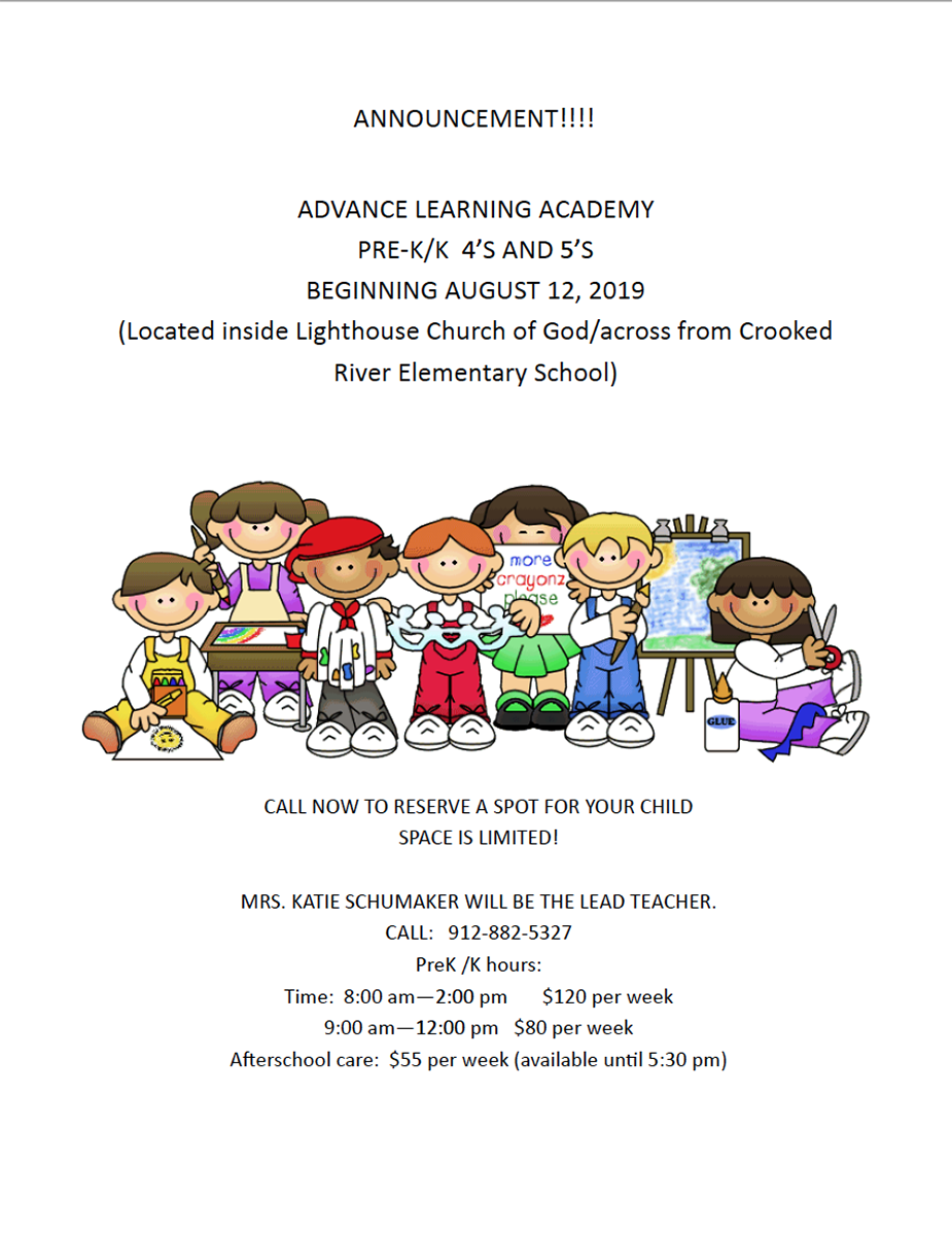 Advance Learning Academy pre-k announcement